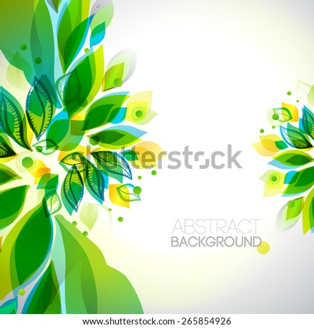 Summer and spring decorative elements . Abstract decorative frame. Season design template.
