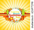 Summer background. - stock vector