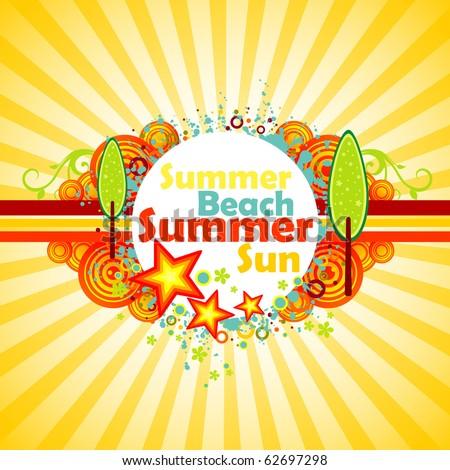 Summer background. - stock vector