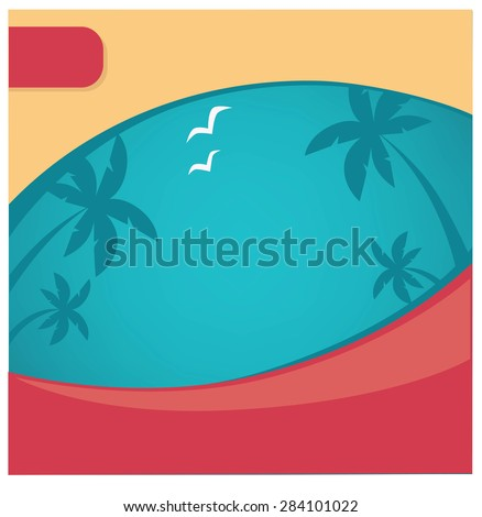 summer background for your promotional company - stock vector