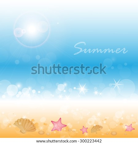 Summer Background - Vector Illustration, Graphic Design, Editable For Your Design