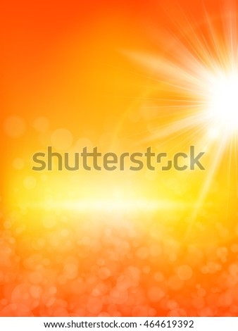 Summer background with a summer sun burst with lens flare. EPS 10 vector file included