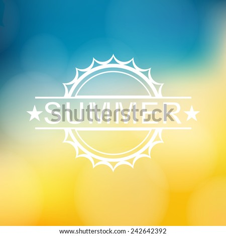 Summer background with text - Vector - stock vector