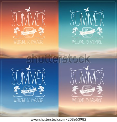 Summer Backgrounds - stock vector