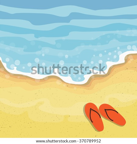 Summer beach. - stock vector