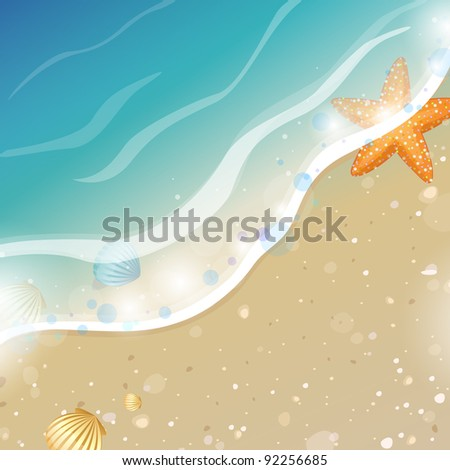 Summer Beach Design - stock vector