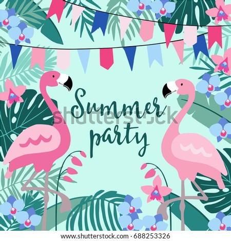 Hello Summer Greeting Card Invitation Invitations Vector – Bday Card Invitation