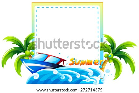 summer boat beach scene template stock photo photo vector rh shutterstock com google clip art beach scene free clipart of beach scenes
