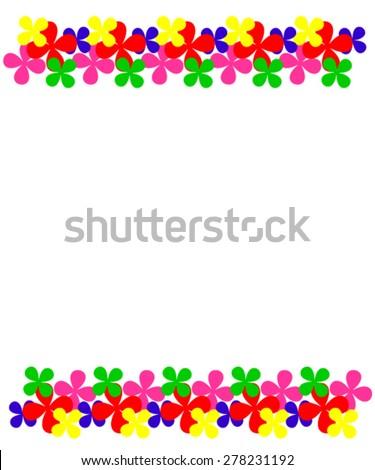 Summer border. - stock vector