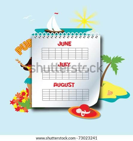 Картинки лето календарь