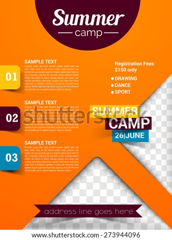 Summer camp flyer stock images royalty free images for Summer camp brochure template