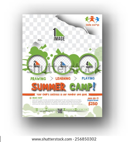 Summer camp flyer poster template stock vector 256850302 summer camp flyer poster template pronofoot35fo Gallery