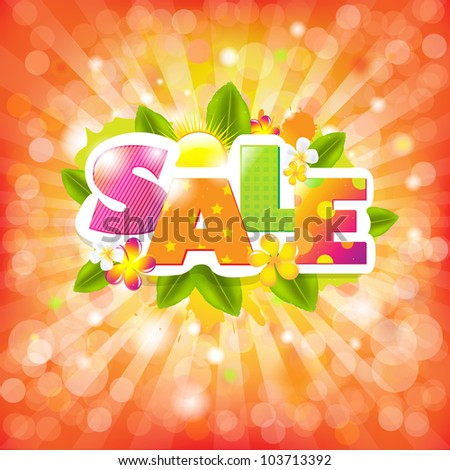 Summer Color Sale Design Template, Vector Illustration - stock vector