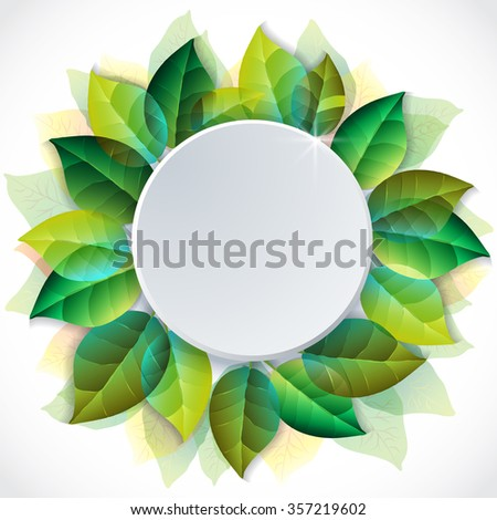 Summer Concept. Mockup Templates: blank letterhead with space for your text. Vector Elements of design on an isolated backdrop with summer leaves - stock vector
