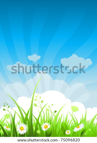 Summer day background - stock vector