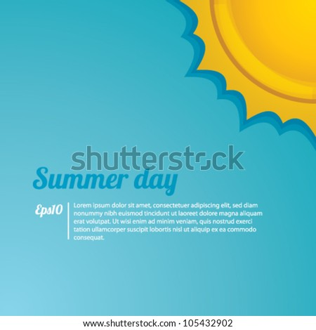summer day background vector - stock vector