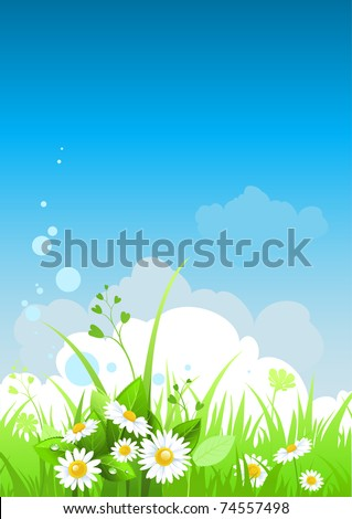 Summer day background with space for text