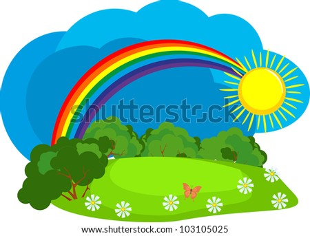 Rainbow In The Sky Royalty Free Stock Photos - Image: 23039488 |Real Rainbows In The Sky On A Sunny Day