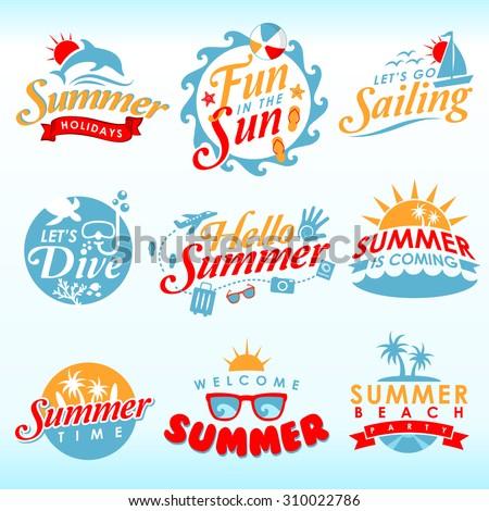 Summer Design Element - stock vector