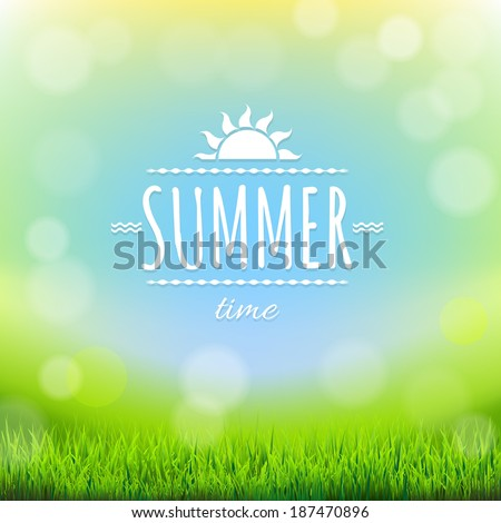 Summer Discount Banner, With Gradient Mesh, Vector Illustration - stock vector