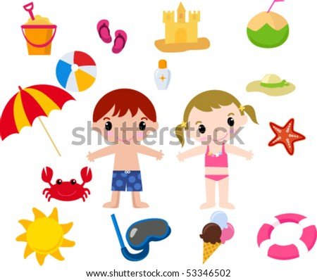 summer element - stock vector