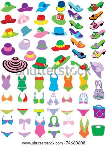 Summer fashion - stock vector