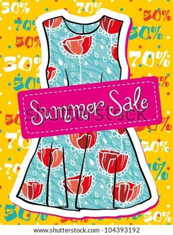 Summer fashion sale - stock vector