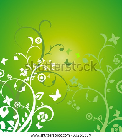 Summer flower background. Vector illustration