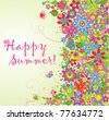 Summer flowers - stock vector