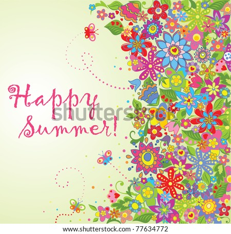 Summer flowers - stock vector