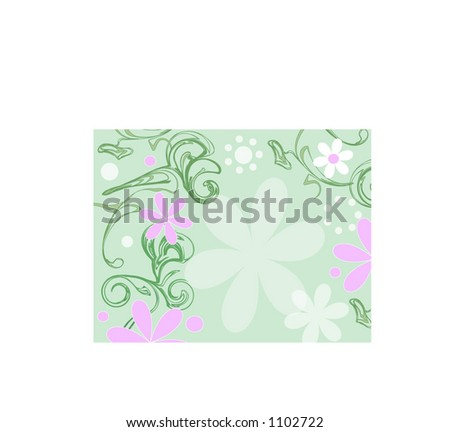 summer flowers and greenery vector