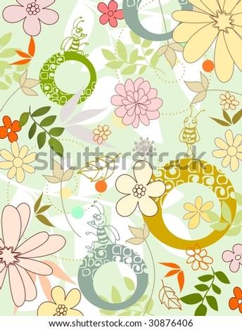 Summer fresh background - stock vector