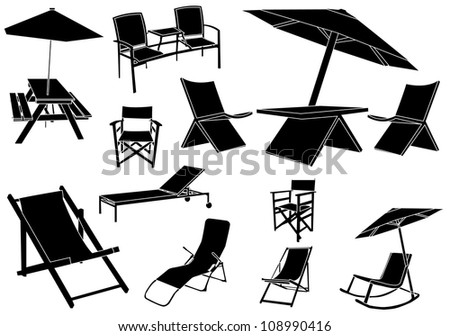 Summer furniture - stock vector