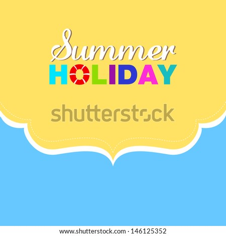 Summer holiday beach background - stock vector