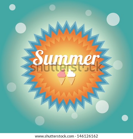 Summer holiday card, vector