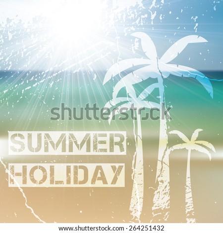 Summer holiday ocean tropical design  - stock vector