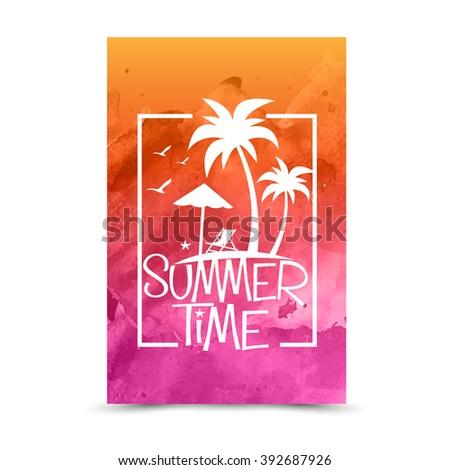 summer holiday vector - stock vector