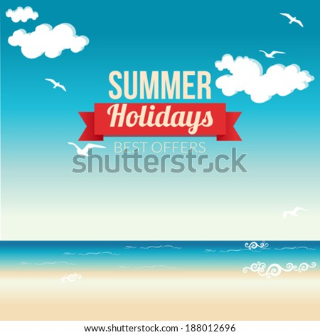 Summer Holidays - stock vector