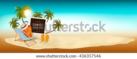 Summer holidays background. Vacation memories. Vector. - stock vector