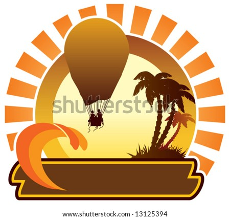 Summer icon - balloon - stock vector