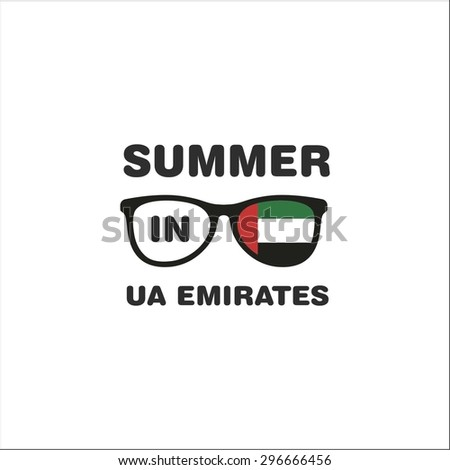 Summer in UA Emirates - stock vector
