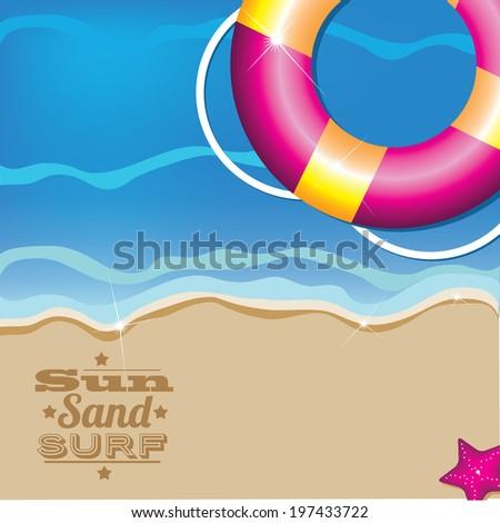 Summer inner tube background. Eps 10. - stock vector