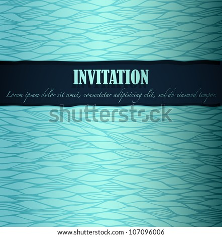 Summer invitation made of fancy paper, vector eps8 illustration - stock vector
