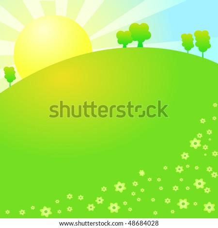 summer meadow - stock vector