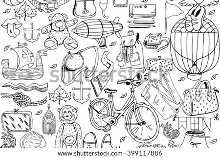 Summer Objects Set - stock vector