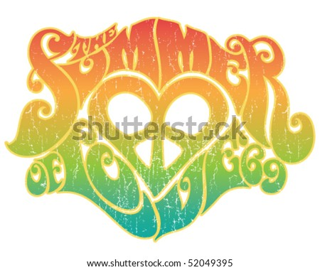 Summer of Love - stock vector