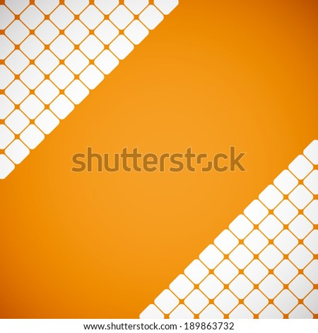 summer orange with white square pattern background (vector)   - stock vector