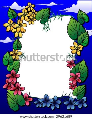 Summer photo-frame. Vector illustration. - stock vector