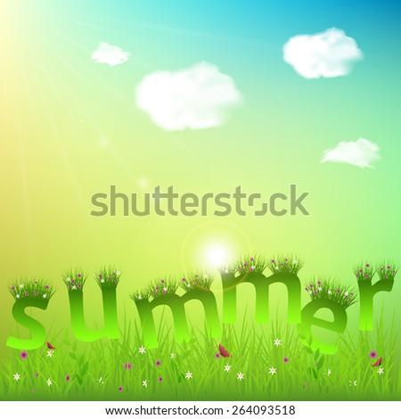 Summer Poster Background For Design