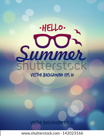Summer poster. Vector  - stock vector